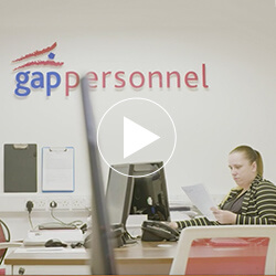 Screenshot from a video featuring the Gap Personnel offices