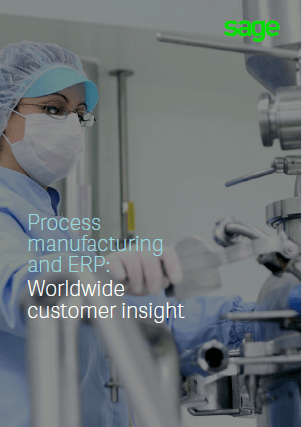 Front cover of Sage report, Process Manufacturing and ERP