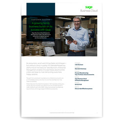 Front page of a Sage business case study of Roba
