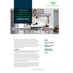 Front page of Sage business case study of Burbidge Kitchens