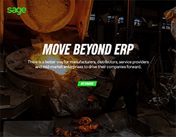 Front cover of Sage eBook, Move Beyond ERP