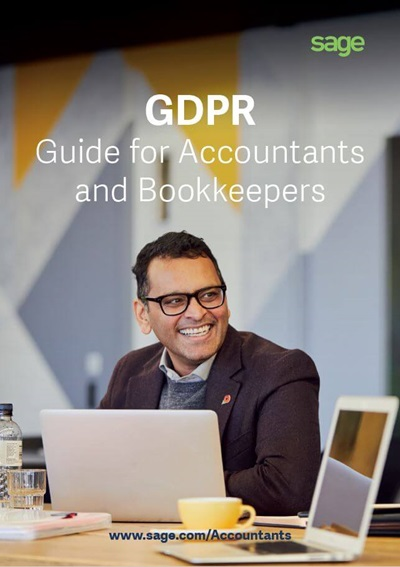 Front cover of Sage GDPR Guide for Accountants and Bookkeepers