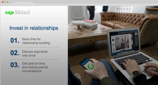 Screenshot of Sage 50cloud webinar