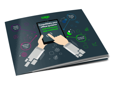 Front cover of the Sage eBook: Consolidate Your Office Systems and Eliminate App Overload