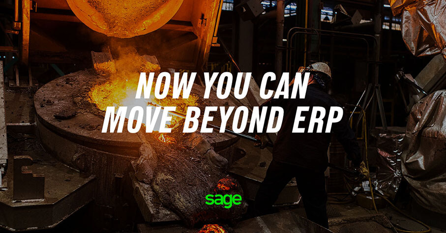 Page from the Sage presentation: Move Beyond ERP