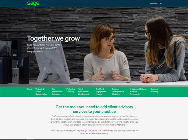 Sage Accountants Network (SAN) Client Advisory Services (CAS)