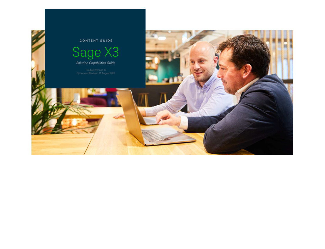 Vignette du guide des fonctionnalités de la solution Sage Enterprise Management